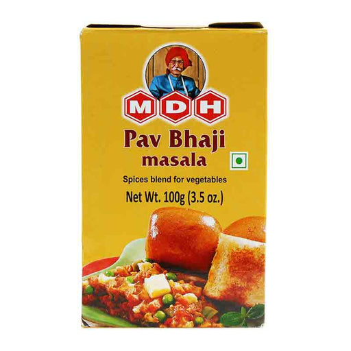 MDH Pav Bhaji Masala Spice Blend for Popular Indian Street Snack, 3.5 oz (100g)