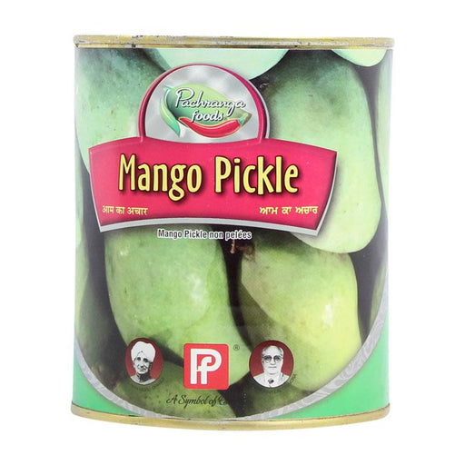 Mango Pickle Achar, Unpeeled Mango by Pachranga Foods, 28 oz (800g)