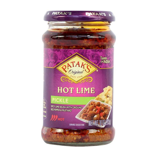 Patak's Lime Pickle Achar, Hot, 10 oz (283g)