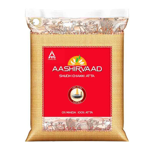Atta Flour for Roti, Naan, Chapatti by Aashirvaad, 2.2 lbs (1kg)