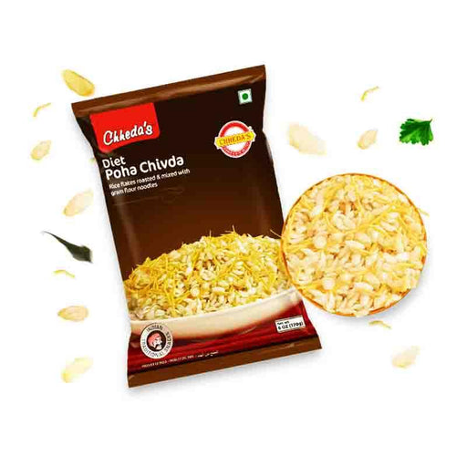 Chheda's Diet Poha Chivda Rice and Chickpea Snack, 6 oz (170g)