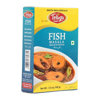 Telugu  Fish Curry Masala Mix, Spice Mix for South Indian Curry, 3.5 oz (100g)