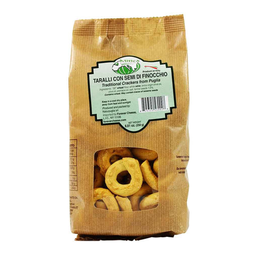 Mitica Taralli Crackers with Fennel, 8.8 oz.