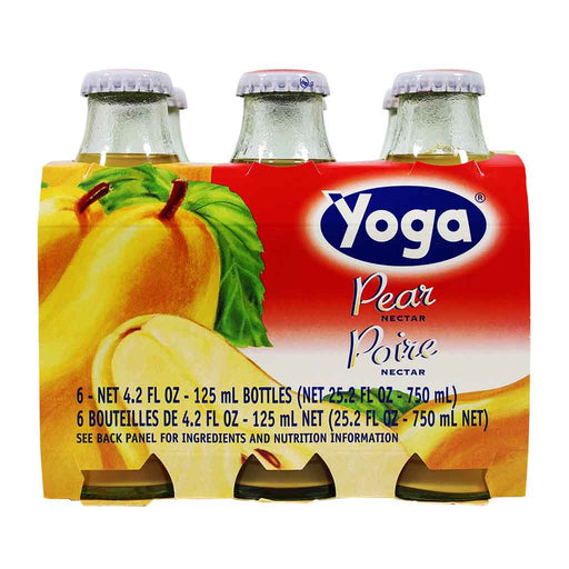 6-Bottle Yoga Italian Fruit Juice Pear Nectar (4.2 oz x 6)