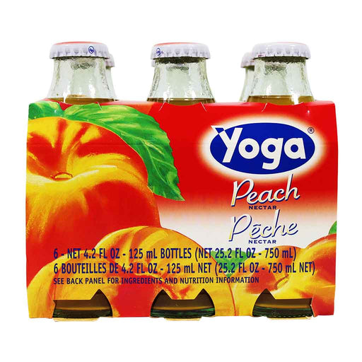 6-Bottle Yoga Italian Fruit Juice Peach Nectar (4.2 oz x 6)