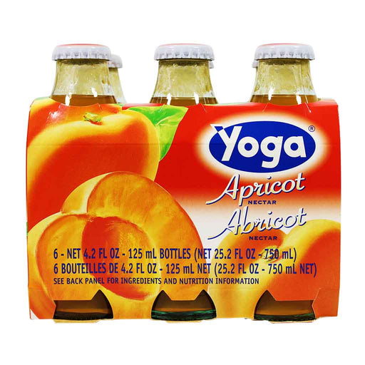 6-Bottle Yoga Italian Fruit Juice Apricot Nectar (4.2 oz x 6)