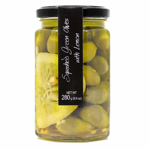Casina Rossa Snacking Green Olives with Lemon 9.9 oz. (280g)