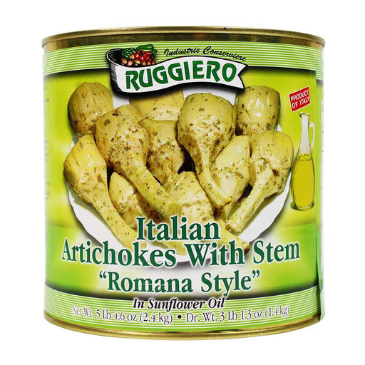 Ruggiero - Italian Artichokes with Stem, 84.6 oz.