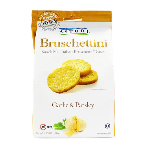 Asturi Ð Garlic & Parsely Bruschettini, Italy, 4.23oz (120g)