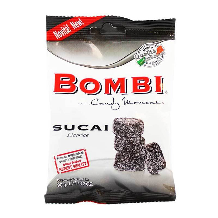 Italian Licorice Candy, Sucai Artisanal Gummy by Bombi 3.17 oz (90 g)