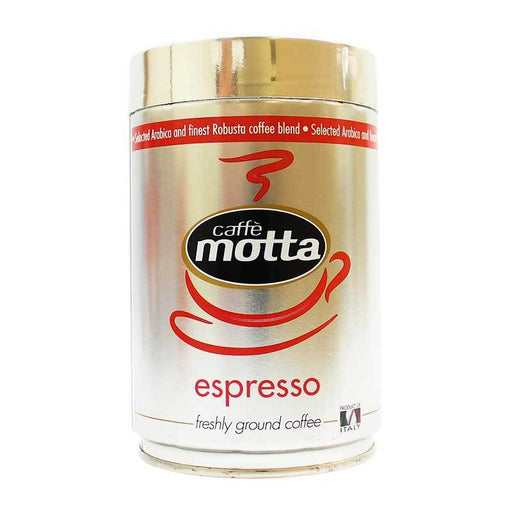Caffe Motta Espresso Ground Coffee, Tin, 8.8 oz (250 g)