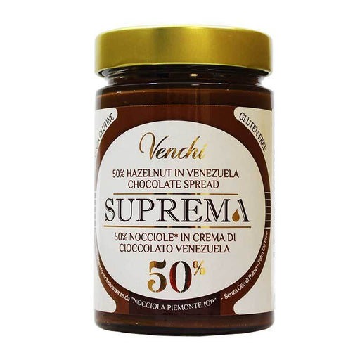 Venchi Suprema 50% Hazelnut Spread, 10.58 oz (300 g)