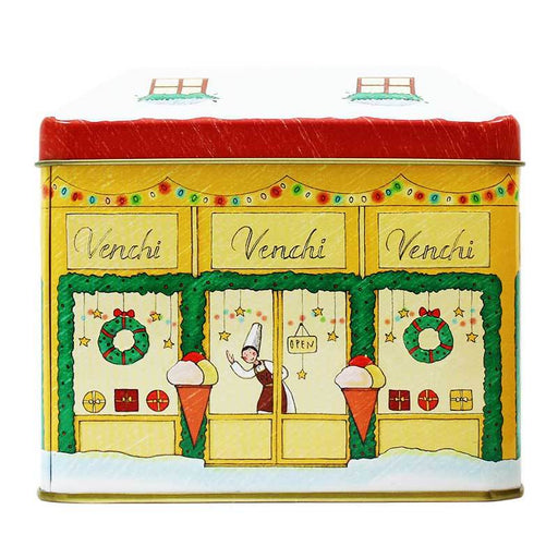 Venchi Holiday Storefront Tin, 8.81 oz (250 g)