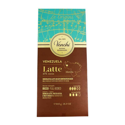 Venchi Venezuelan Milk Chocolate with Chocolate Liquor, 28.21 oz (800 g)