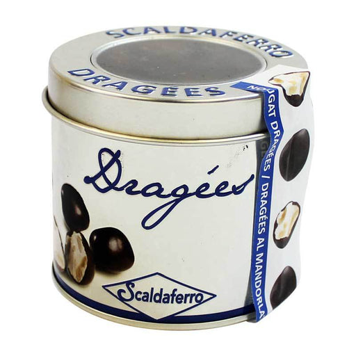 Scaldaferro Almond Nougat Dragees in Tin, 5.29 oz (150 g)