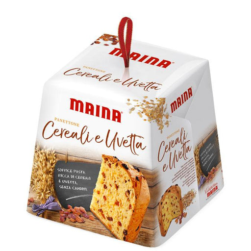 Maina Panettone with Grains and Raisins, 26.45 oz. (750 g)