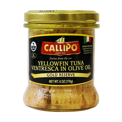 Callipo Gold Reserve Yellowfin Tuna in Olive Oil, 6 oz (170 g)