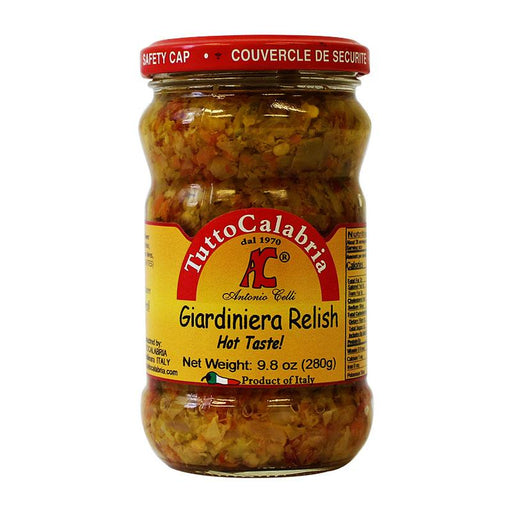 Tutto Calabria Giardiniera Spicy Vegetable Relish, 9.8 oz (280 g)