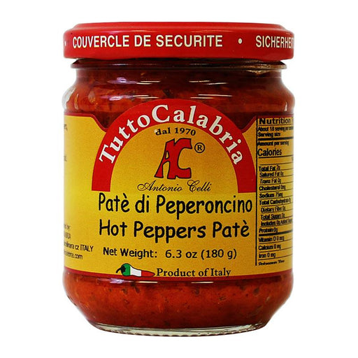 Tutto Calabria Hot Pepper Pate, 6.3 oz (180 g)