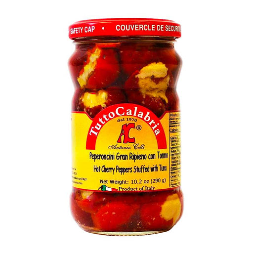 Tutto Calabria Hot Chili Peppers Stuffed with Tuna, 10.2 oz (290 g)