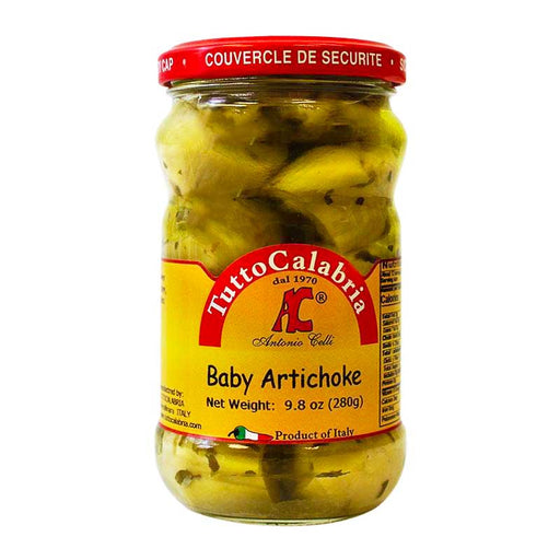 Tutto Calabria Pickled Baby Artichokes, 9.8 oz (280 g)