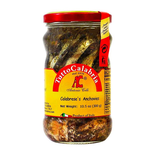 Tutto Calabria Calabrese Anchovies in Oil, 10.5 oz (300 g)