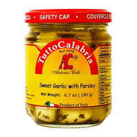 Tutto Calabria Marinated Garlic, Sweet Garlic with Parsley, 6.7 oz (190 g)
