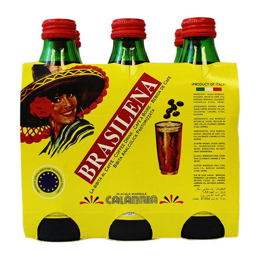 Brasilena Espresso Coffee Soda, 8.5 fl oz x 6 (250 ml)