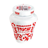 Toschi Black Italian Amarena Cherries, 17.9 oz (510 g)