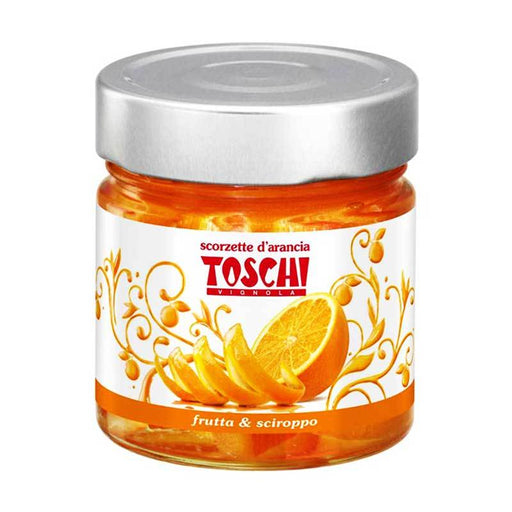 Toschi Orange Peels in Syrup, 10.9 oz (310 g)