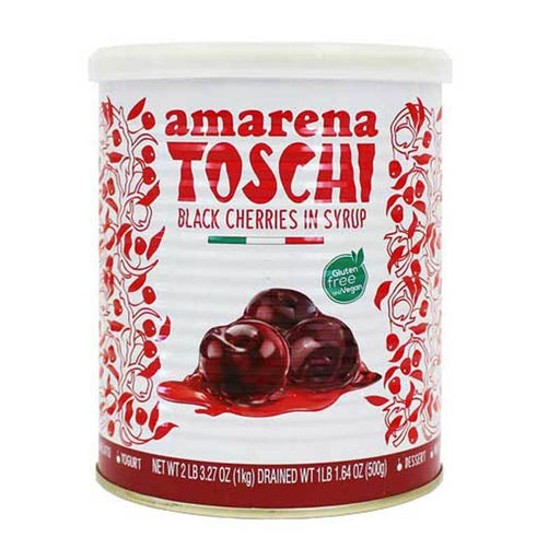 Toschi Black Cherries in Syrup, Large Can, 2.3 lb (1 kg)