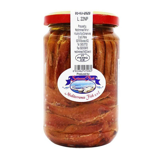 Italian Anchovy Fillets in Sunflower Oil by Sciacca Fish, 10 oz (285 g)