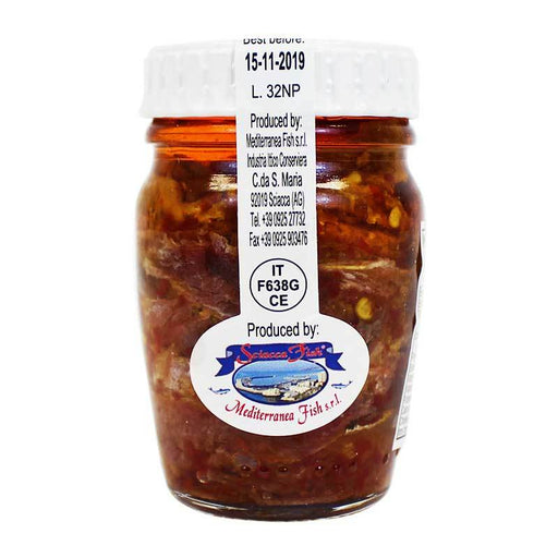 Mediterranean Fish Anchovy Fillets with Hot Pepper, 2.8 oz (80 g)