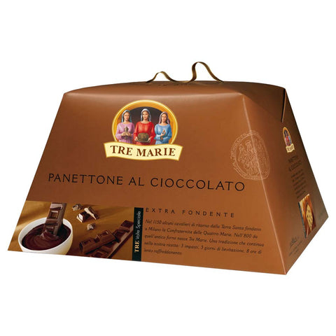 Extra Dark Chocolate Panettone by Tre Marie 1 lb 14 oz