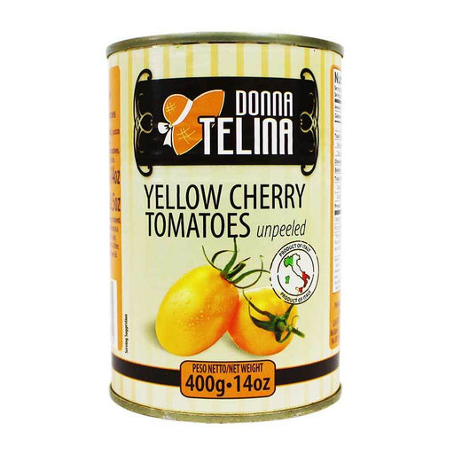 Donna Telina Whole Yellow Cherry Tomatoes, Unpeeled, 14 oz (400g)