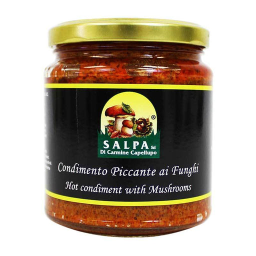 Salpa Hot Condiment with Mushrooms, 9.9 oz (280g)