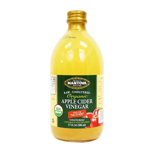 Mantova Organic Apple Cider Vinegar, 17 oz (500 mL)