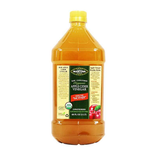 Mantova Organic Apple Cider Vinegar, 68 fl oz (2L)