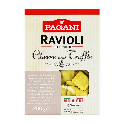 Pagani Ravioli with Truffle and Cheese, 8 oz (250g)