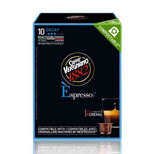 Caffe Vergnano Decaf Arabica Fine Ground Espresso Coffee, 1.8 oz (50g)
