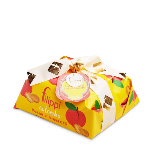 Filippi Peaches and Amaretti Colomba Cake, 35.27 oz (1kg)