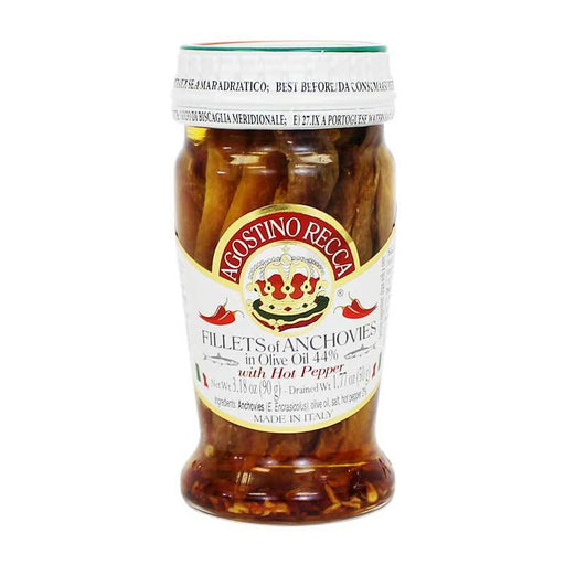Agostina Recca Anchoves in Hot Pepper Oil, 3.18 oz (90g)