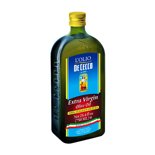 De Cecco 100% Italian Olives Extra Virgin Olive Oil, 25.4 fl oz. (750mL)