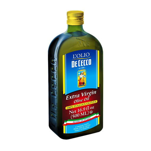 De Cecco 100% Italian Olives Extra Virgin Olive Oil, 16.9 fl oz. (500mL)