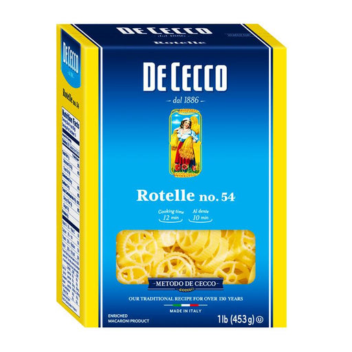 De Cecco Rotelle Wagon Wheels Pasta, 1 lb (453 g)