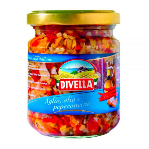 Divella Garlic Oil and Chili Pepper Pasta Sauce, 6.7 oz (190 g)