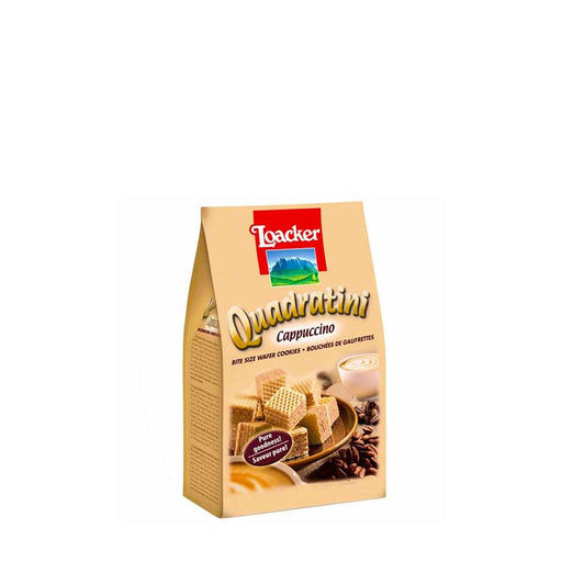 Small Cappuccino Quadratini Wafers by Loacker
