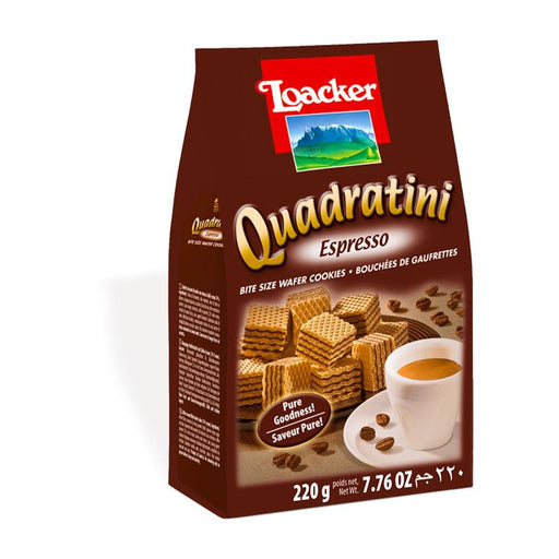 Espresso Quadratini Wafers by Loacker