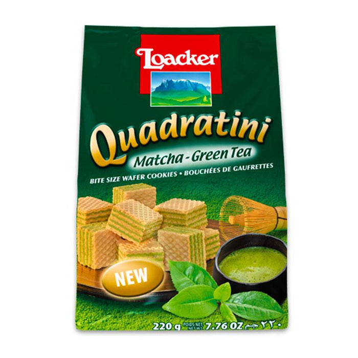 Matcha Green Tea Quadratini Wafers by Loacker