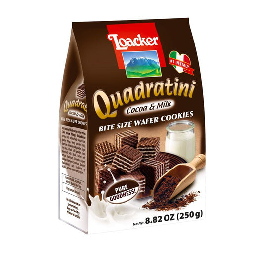 Cocoa and Milk Quadratini Wafers by Loacker